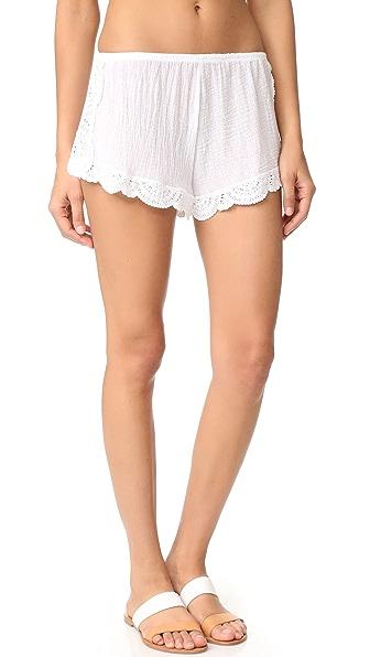 Eberjey Sol Frankie Shorts - White