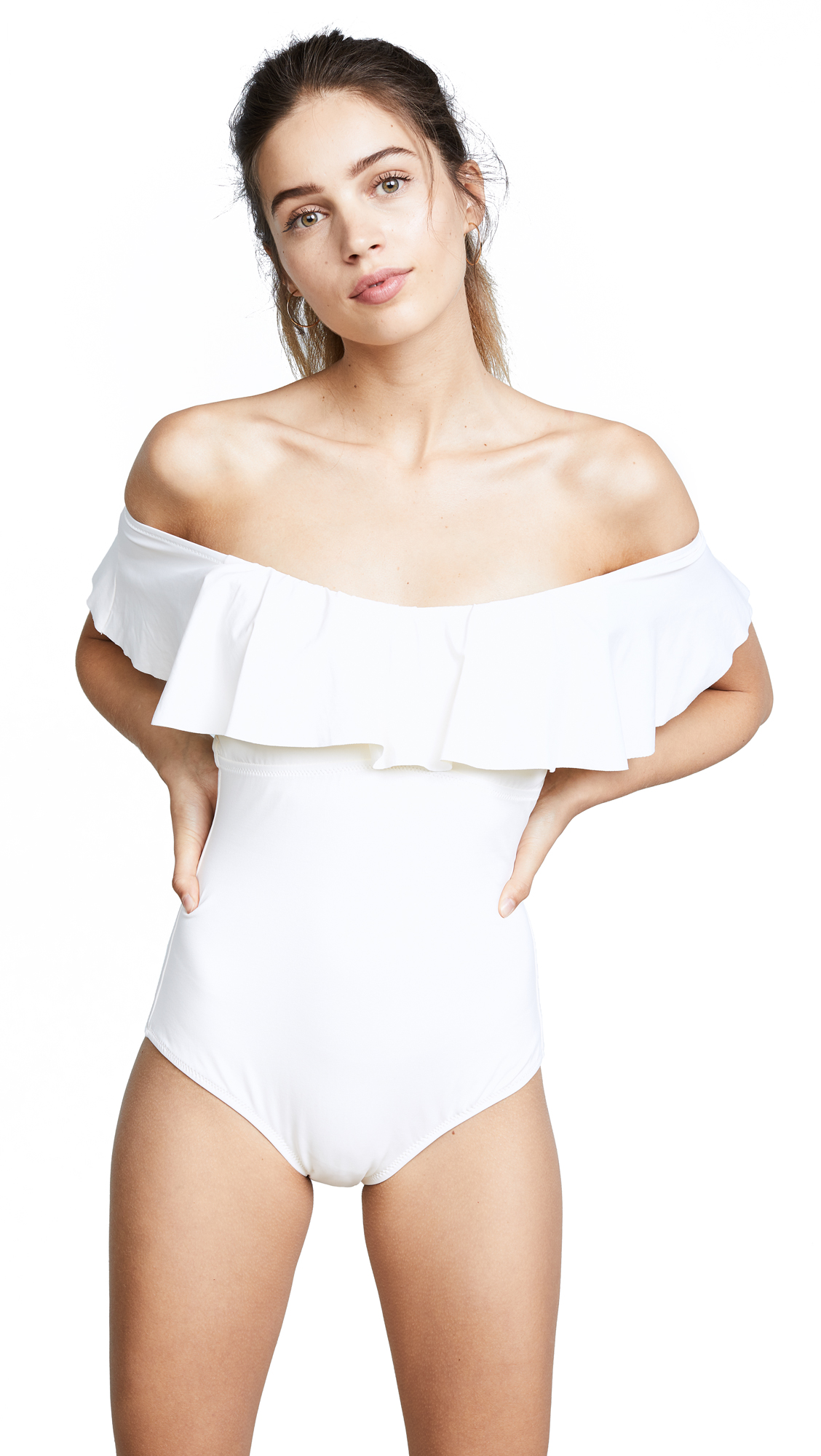 Eberjey So Solid Margarita One Piece In Ivory