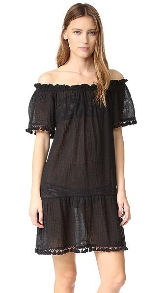 Eberjey Sol Devon Cover Up Dress - Black