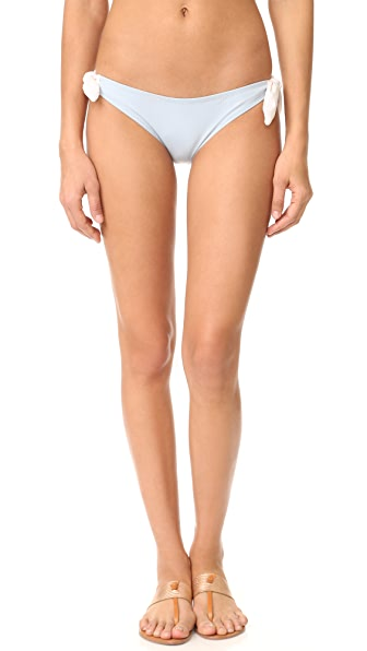 Eberjey So Solid Ursula Bottoms - Faded Blue/Ecru