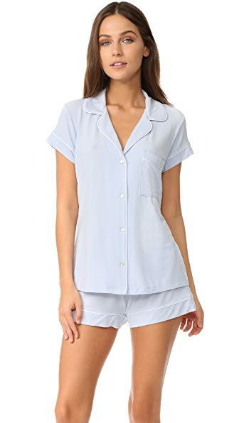 Eberjey Gisele Short PJ Set - Water Blue