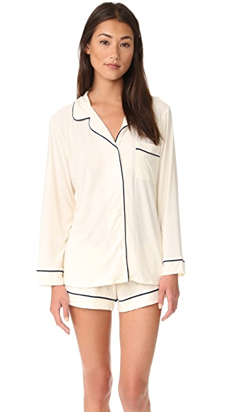 Eberjey Gisele Long Sleeve PJ Set - Ivory
