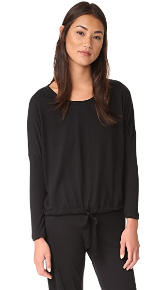 Eberjey Heather Slouchy Tee - Black