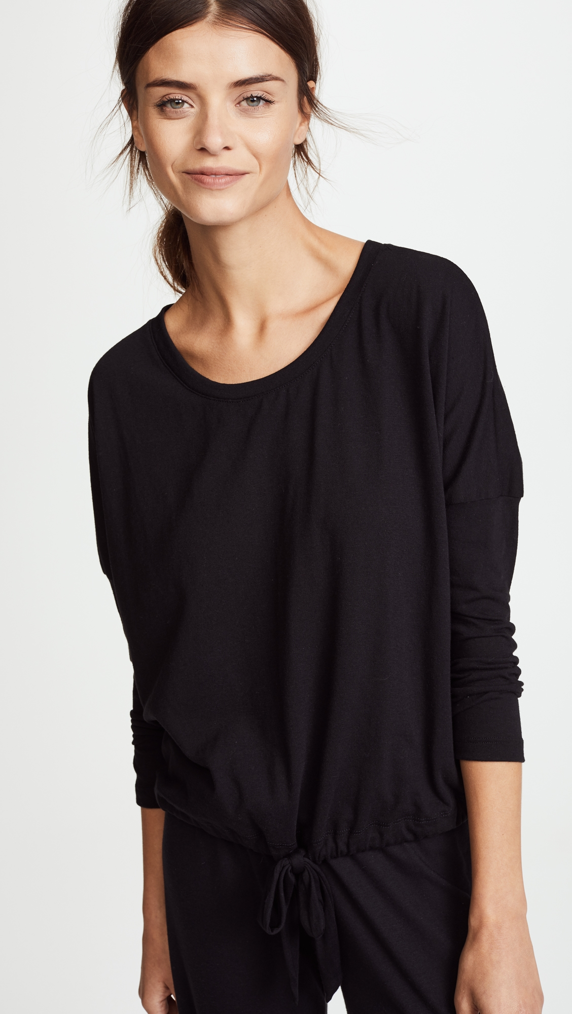 Меланжевая футболка с напуском Eberjey  (EBERJ4105212867114)