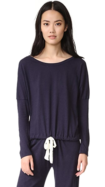 Eberjey Heather Slouchy Tee - Deep Sea