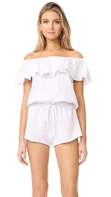 Eberjey Lucia Off Shoulder Sleep Romper