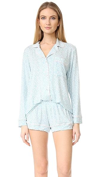 Eberjey Пижамный комплект Tesoro с шортами и верхом с длинными рукавами