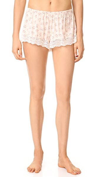 Eberjey x Rebecca Taylor Lou Shorts In Cream Print Brumble Buds
