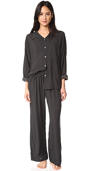 Eberjey Victoria Slouchy Long PJ Set In Wish