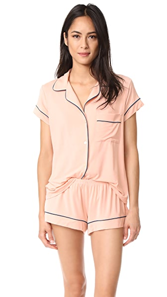 Eberjey Violeta Short PJ Set - Evening Sand/Sailor Blue