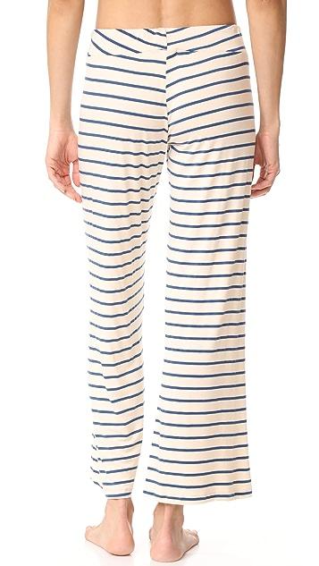Eberjey Lounge Stripes Wide Leg Pants