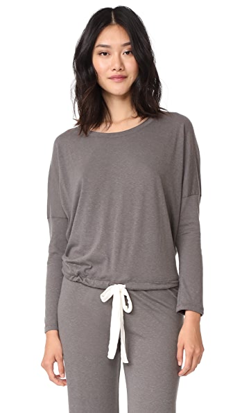 Eberjey Heather Slouchy Tee In Light Charcoal