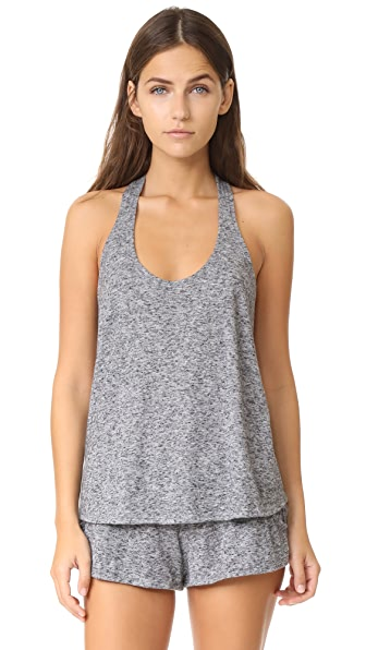 Eberjey Bobby Tank Top In Heathered Grey