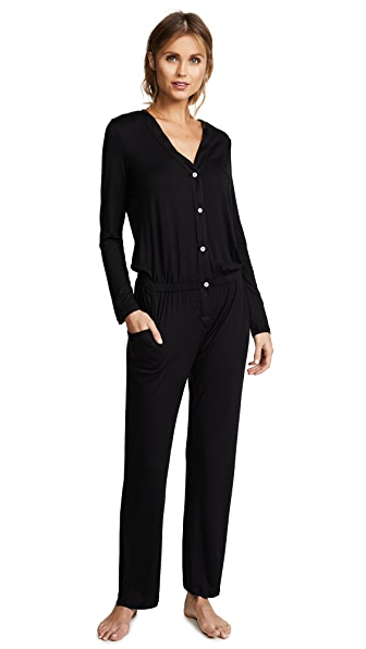 Eberjey Maya PJ Jumpsuit In Black