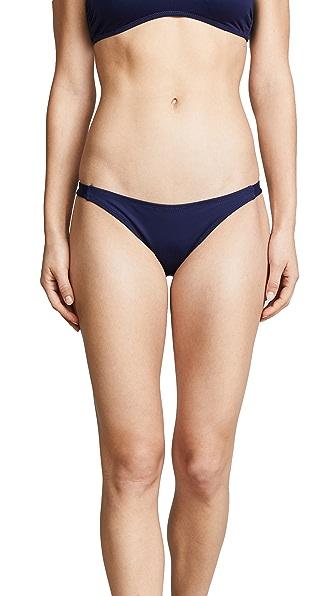 Eberjey So Solid Piper Bikini Bottoms In Deep Blue