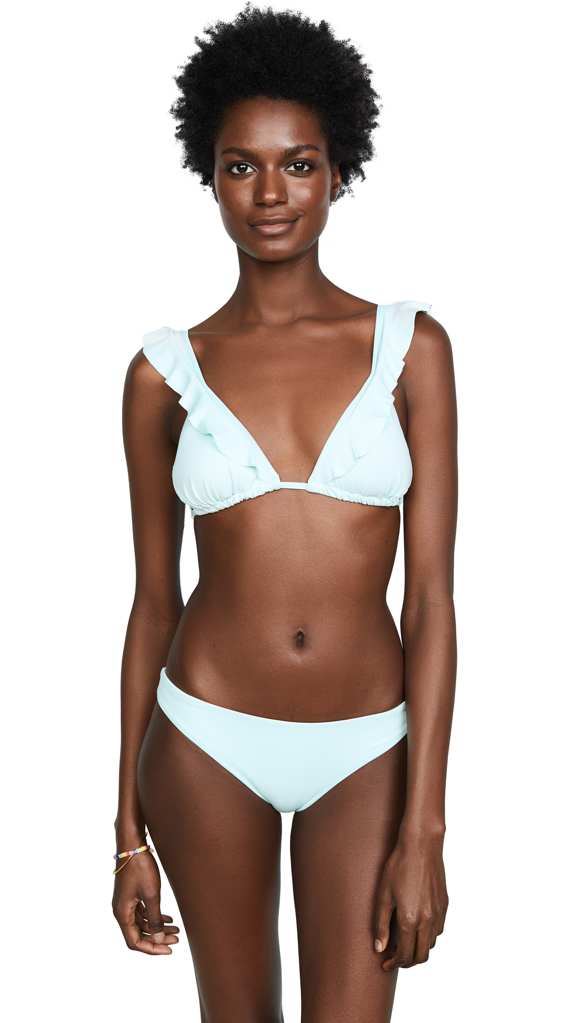 Eberjey So Solid Grayson Bikini Top In Glacier