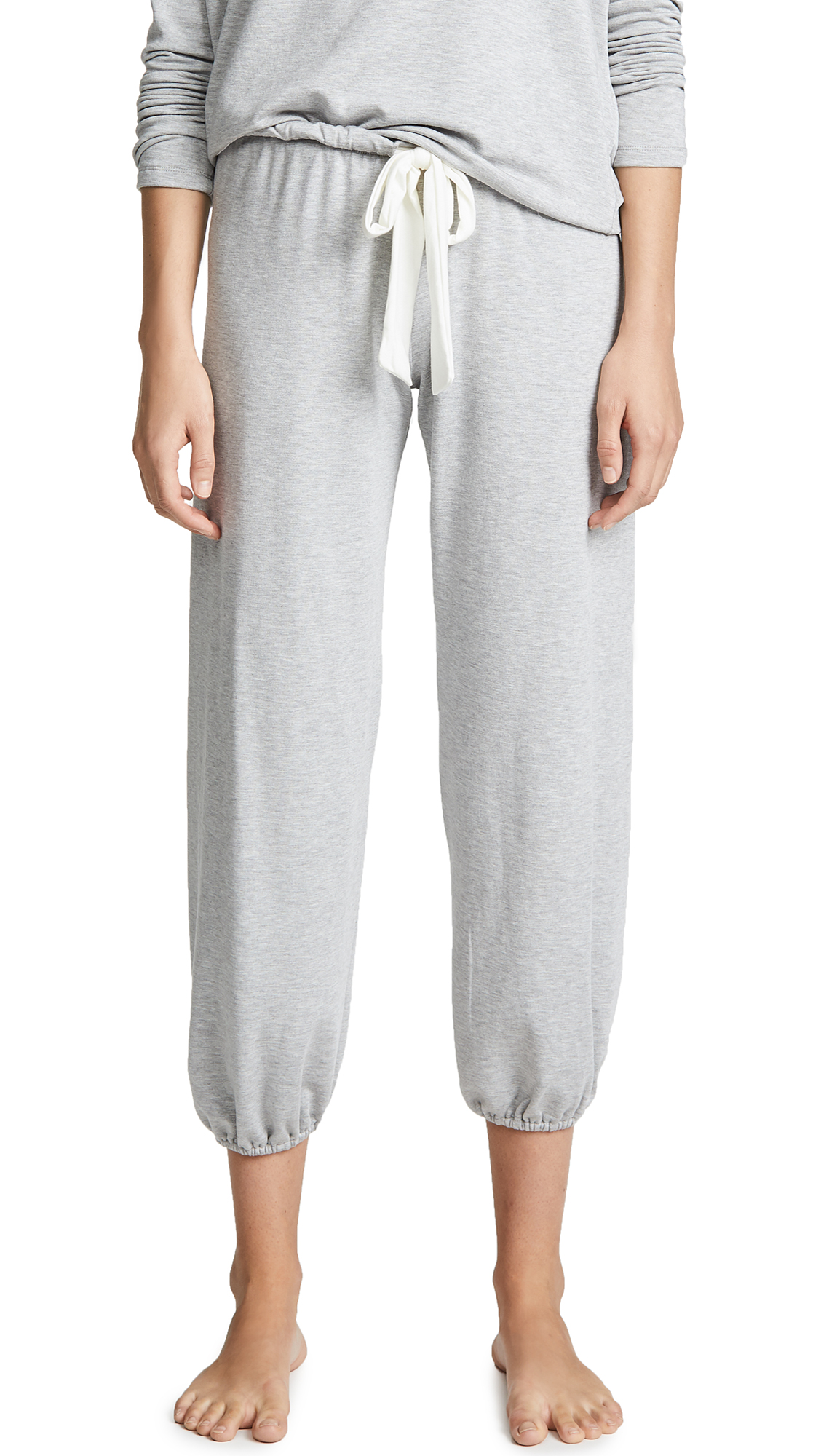 Eberjey The Cropped PJ Pants In Heather Grey