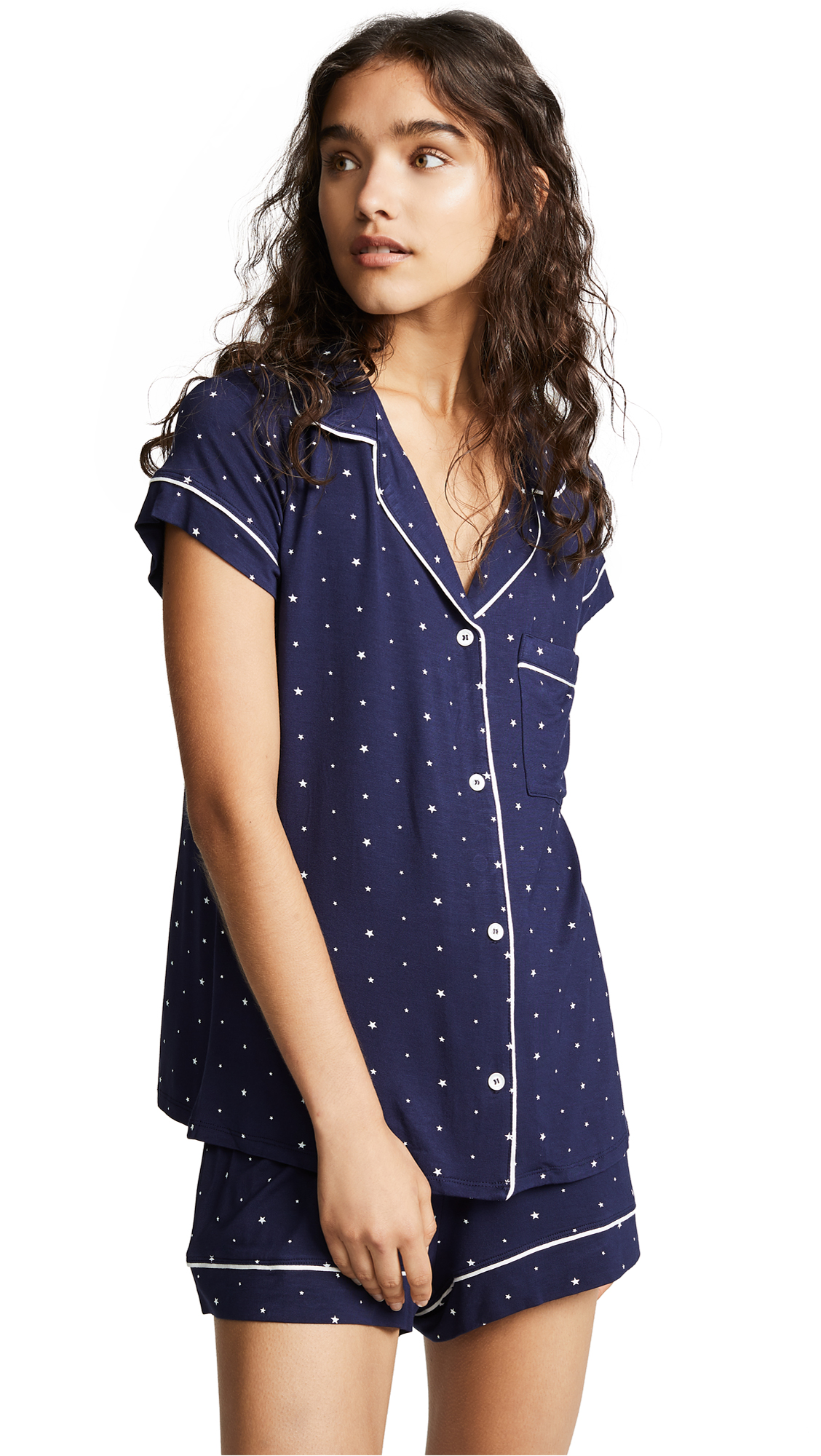 Sleep Chic Short Pajamas in Northern Stars/Ivory