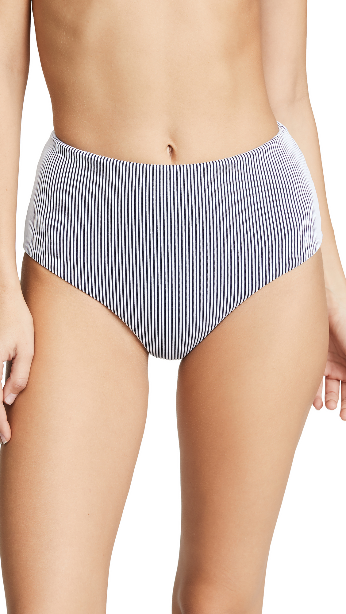 Eberjey Porto Dita Bikini Bottoms - Shore Blue/White