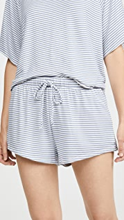 Eberjey Sadie Stripes Sport Shorts