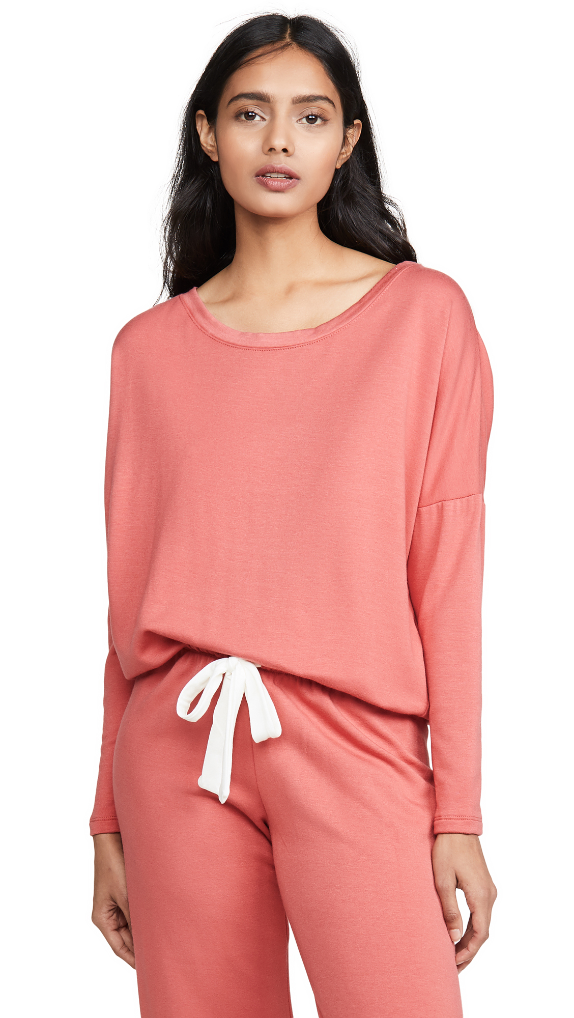 Eberjey Winter Heather Top In Mineral Red