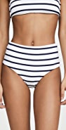 Eberjey Retro Stripe Dita High Waisted Bikini Bottoms