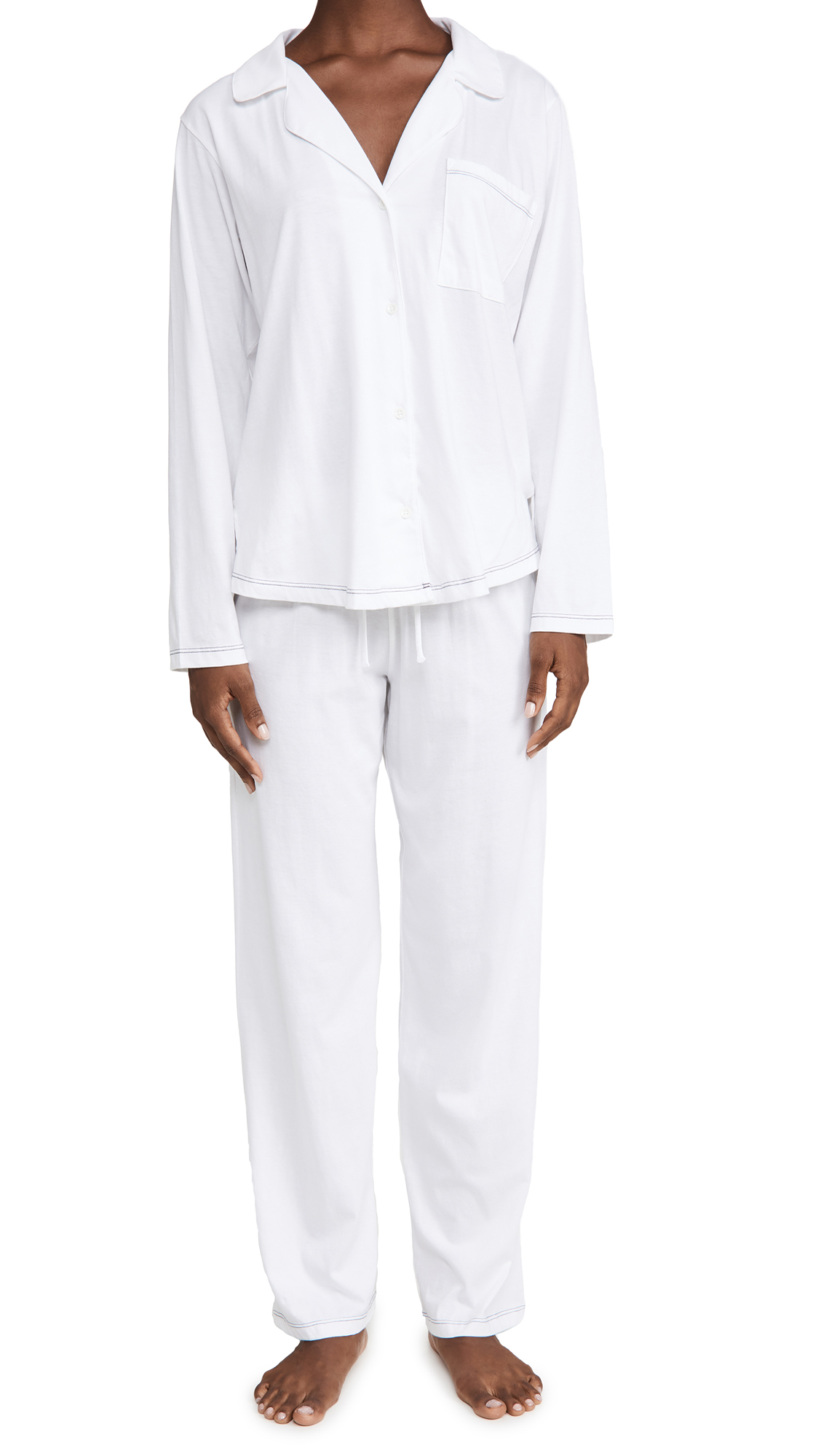 Eberjey ROMY ORGANIC EVERYDAY LONG PJ SET