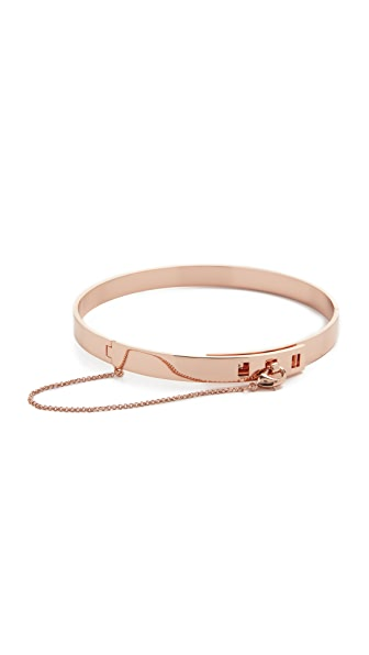 Eddie Borgo Small Safety Chain Choker Necklace - Rose Gold