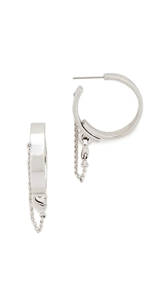 Eddie Borgo Thin Safety Chain Hoops