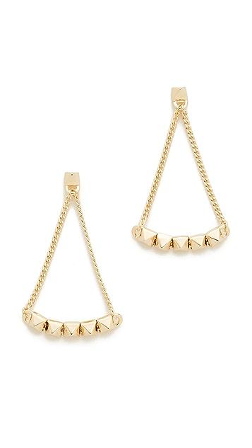 Eddie Borgo Pyramid Tennis Link Earrings