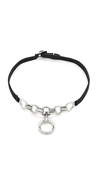 Eddie Borgo Leather O Ring Choker