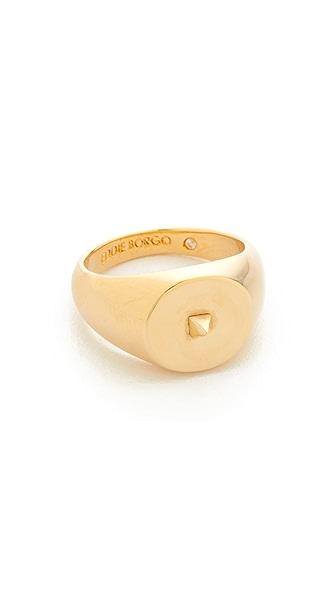 Eddie Borgo Mini Pyramid Pinky Signet Ring In Shiny Gold