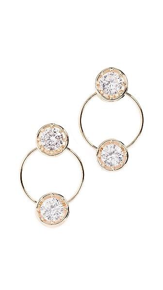 Eddie Borgo Circle Estate Hoop Earrings In Gold