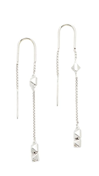 Eddie Borgo Mini Pyramid Ear Threader - Silver
