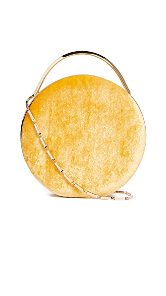 Eddie Borgo Chet Minaudiere Circle Cross Body Bag In Blonde/Amber