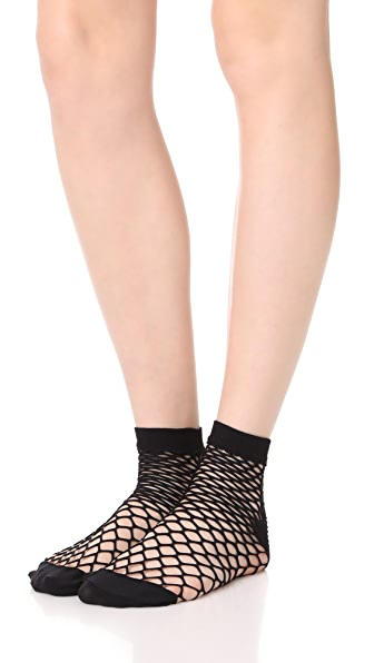 Emilio Cavallini Large Fishnet Sock Set - Black/White