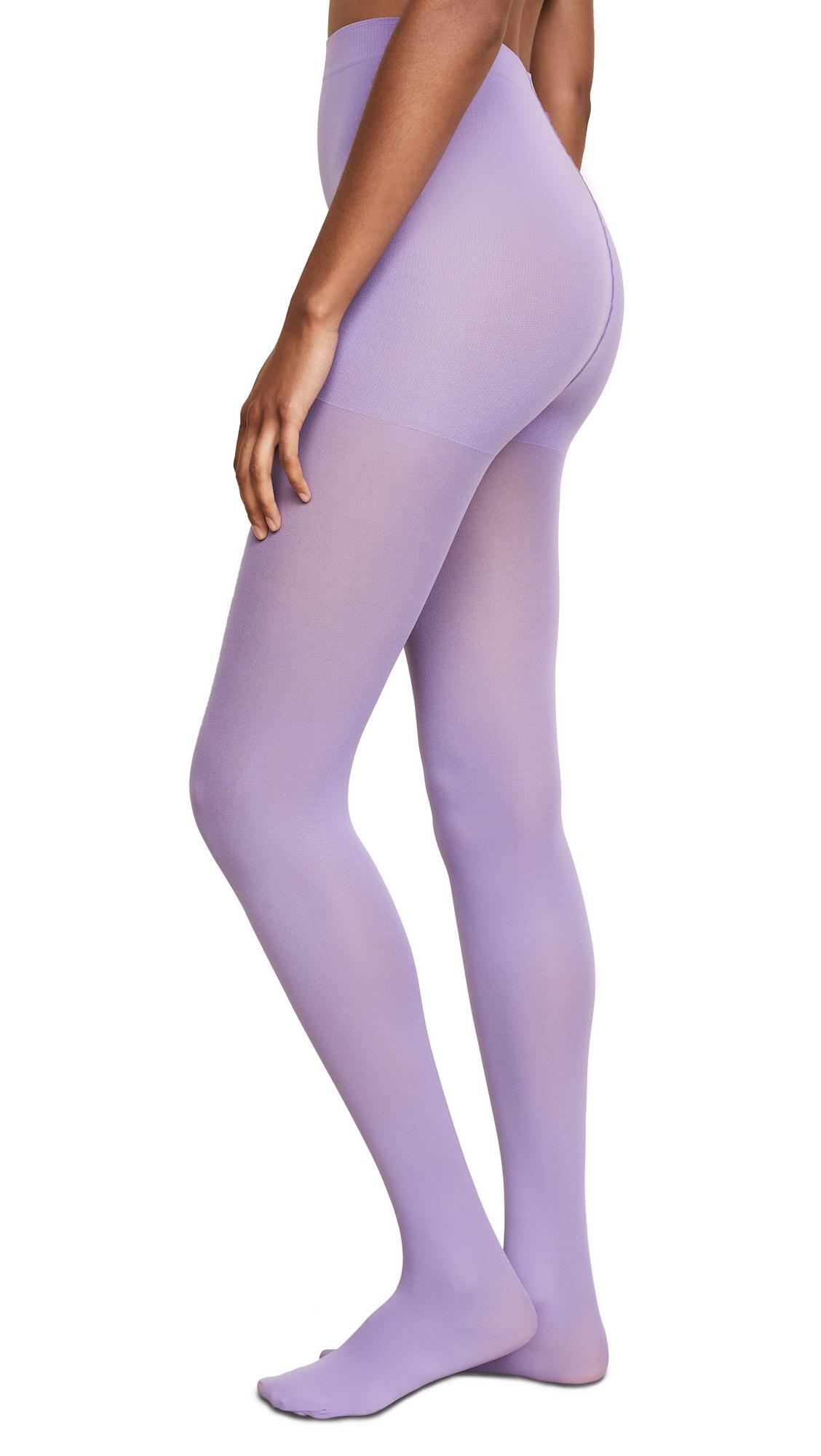 EMILIO CAVALLINI Matte Solid Tights in Purple
