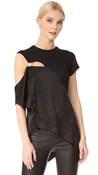 Esteban Cortazar Asymmetrical Top - Black