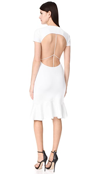 Esteban Cortazar Capri Peace Sign Short Dress