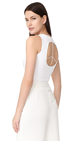 Esteban Cortazar Capri Peace Sign Corset Top - White
