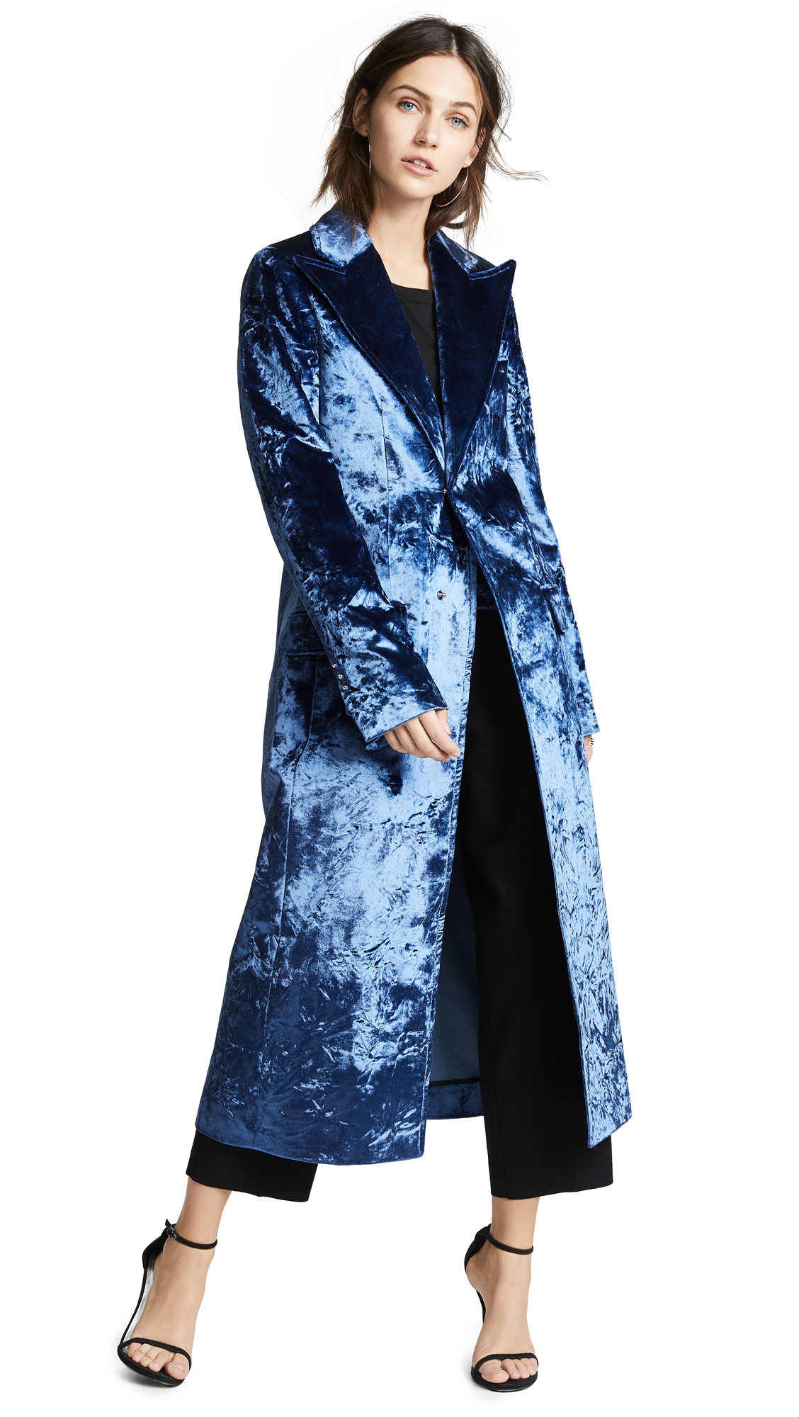 Esteban Cortazar Velvet Drape Tailored Coat