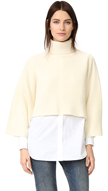 Edition10 Cropped Turtleneck Sweater