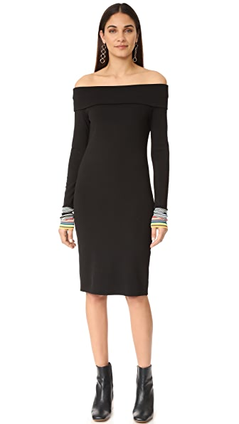 Edition10 Boat Neck Ribbed Dress