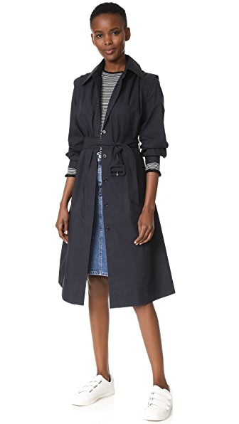 Edition10 Belted Trench Coat - Peacoat