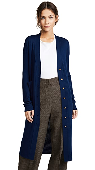 Edition10 Long Cardigan In Medieval Blue
