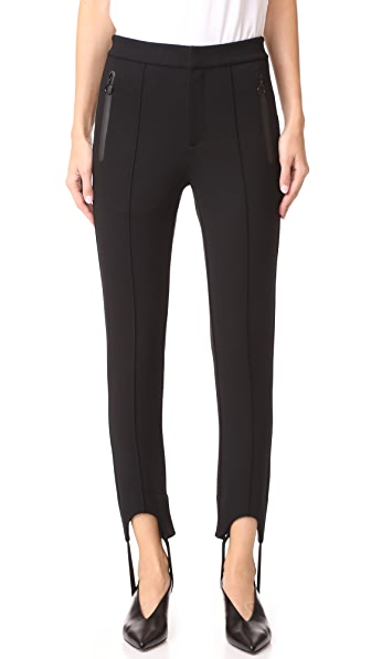 Edition10 Classic Stirrup Pants In Black