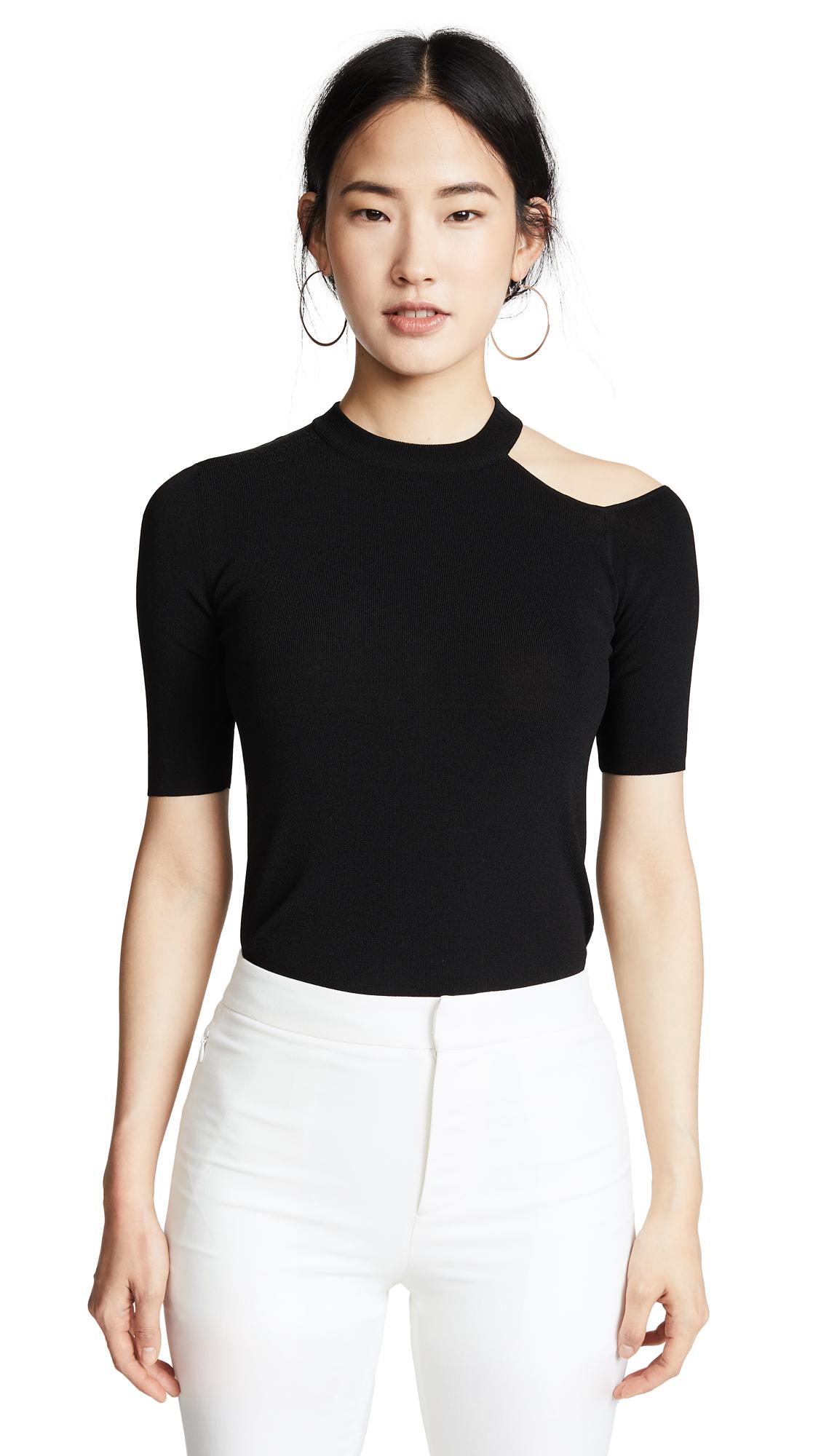 Edition10 Cold Shoulder Pullover In Black