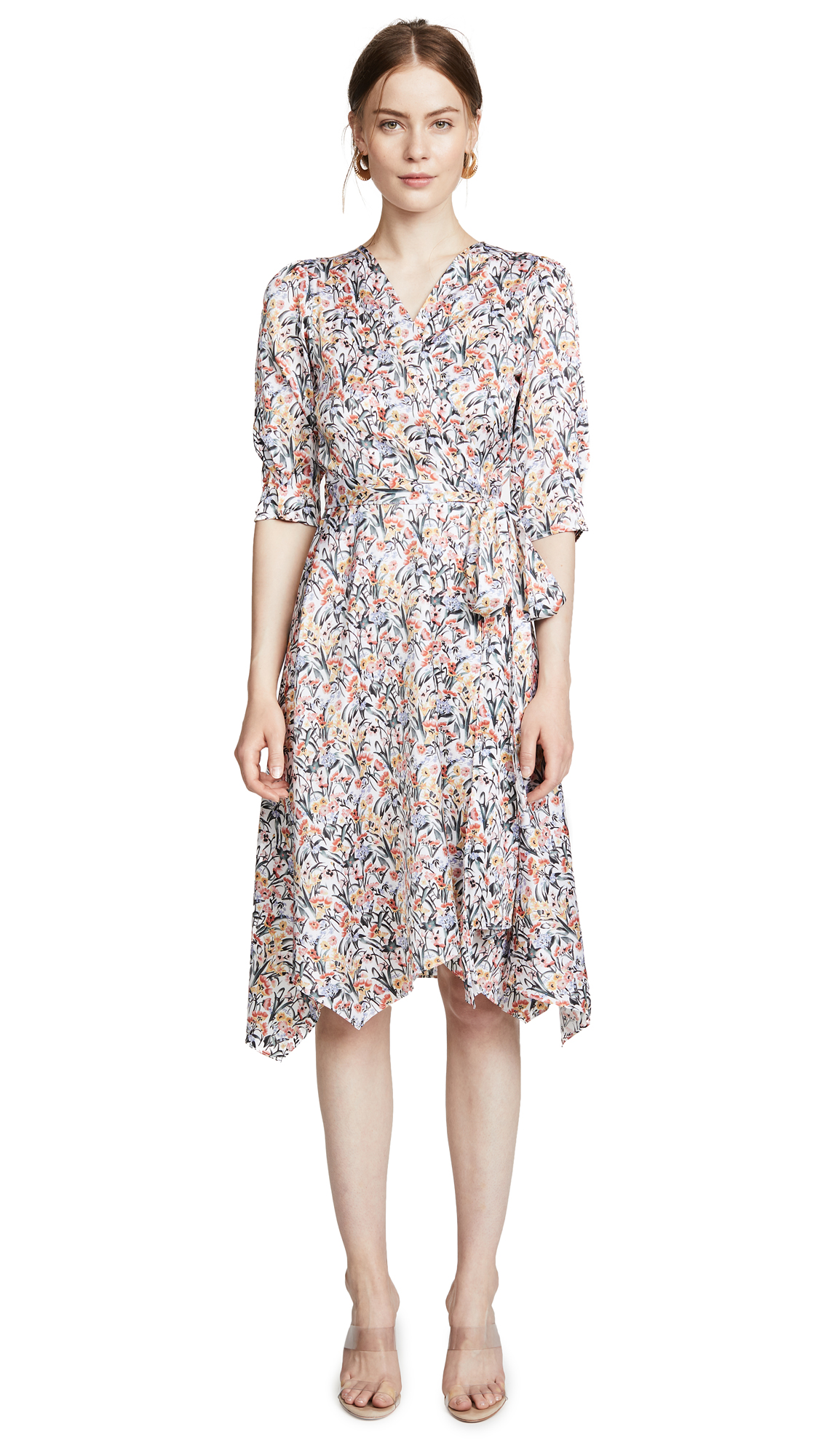 EDITION10 PRINTED WRAP DRESS