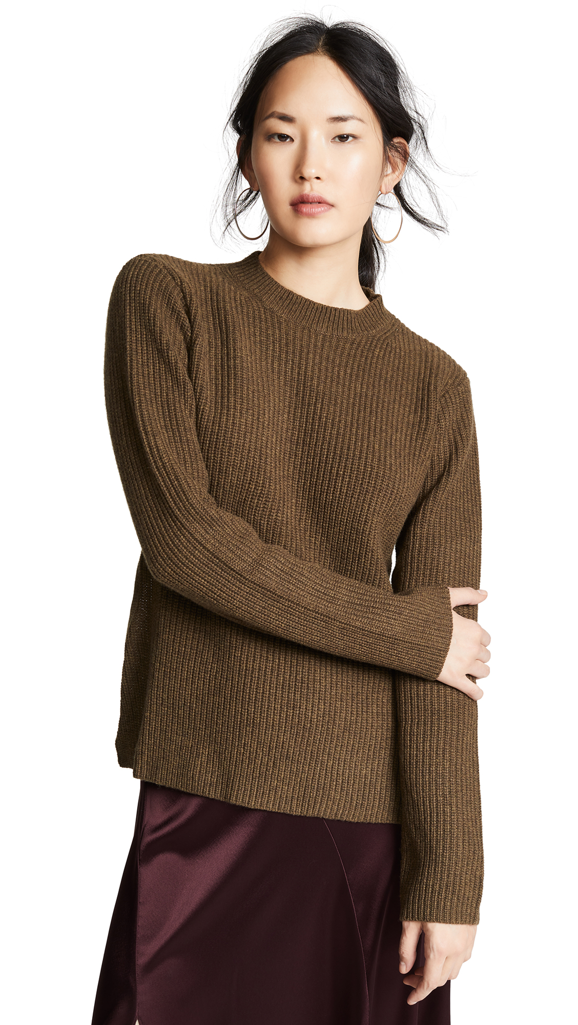 EDITION10 Open Back Sweater in Cypress