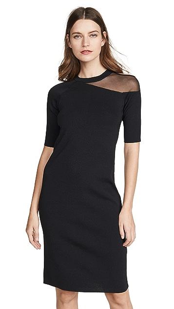 Edition10 Mesh Shoulder Dress